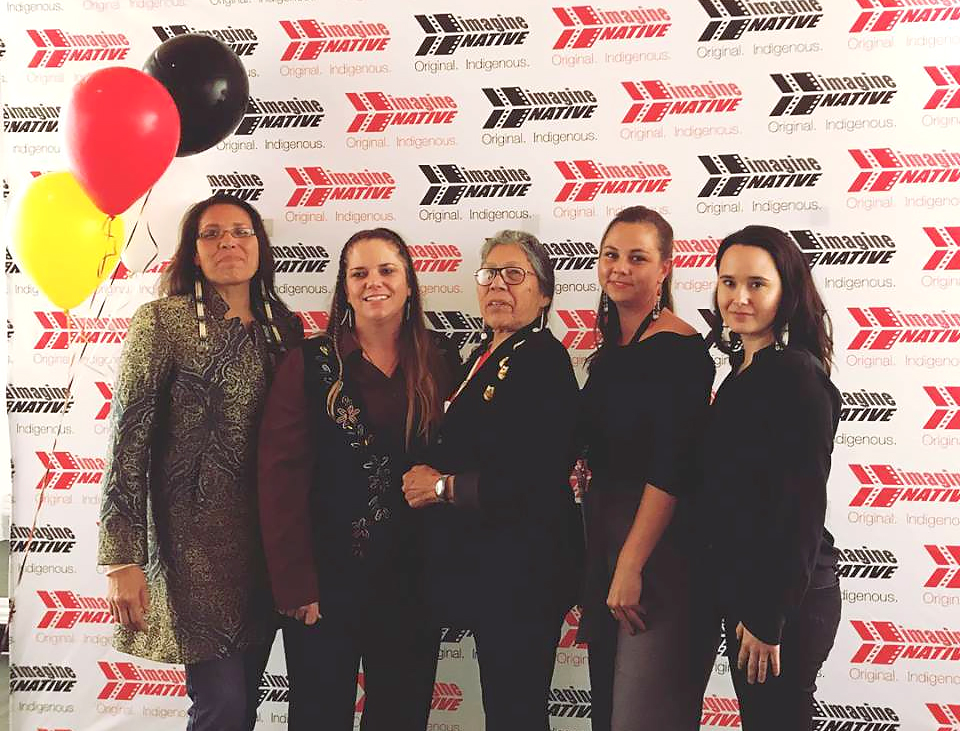 World Premiere at Hot Docs - Pictured Left to Right: Marcella Gilbert, ELizabeth Castle, Madonna thunder Hawk, Anna Pitman & Christina King
