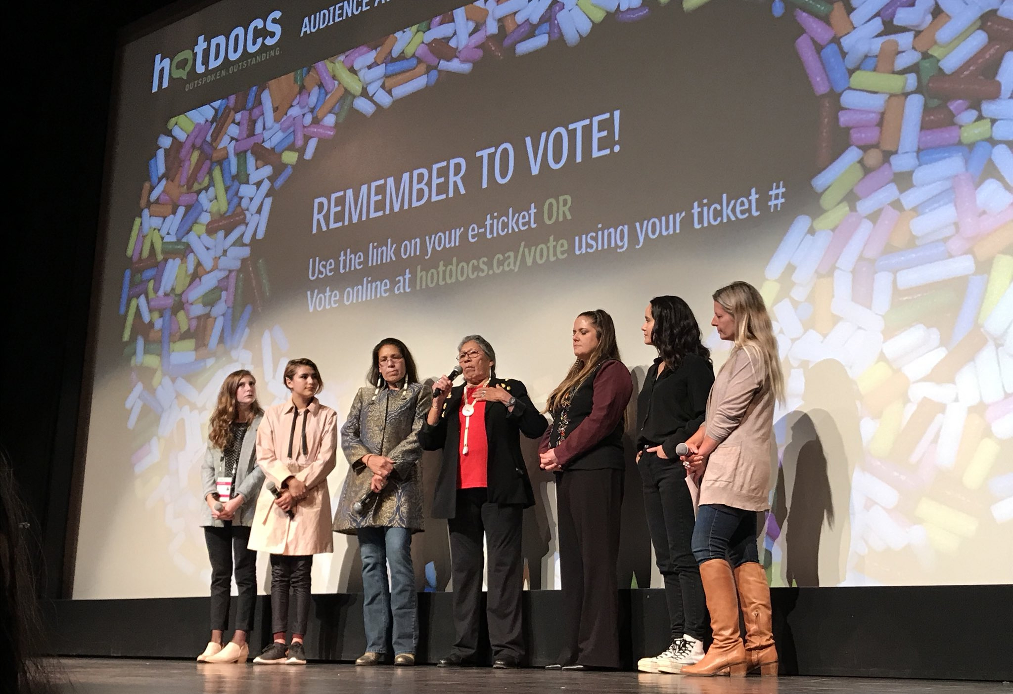Warrior Women premiered to a sold out crowd ON April 28, 2018 at the Hot DOcs Canadian International Documentary Festival