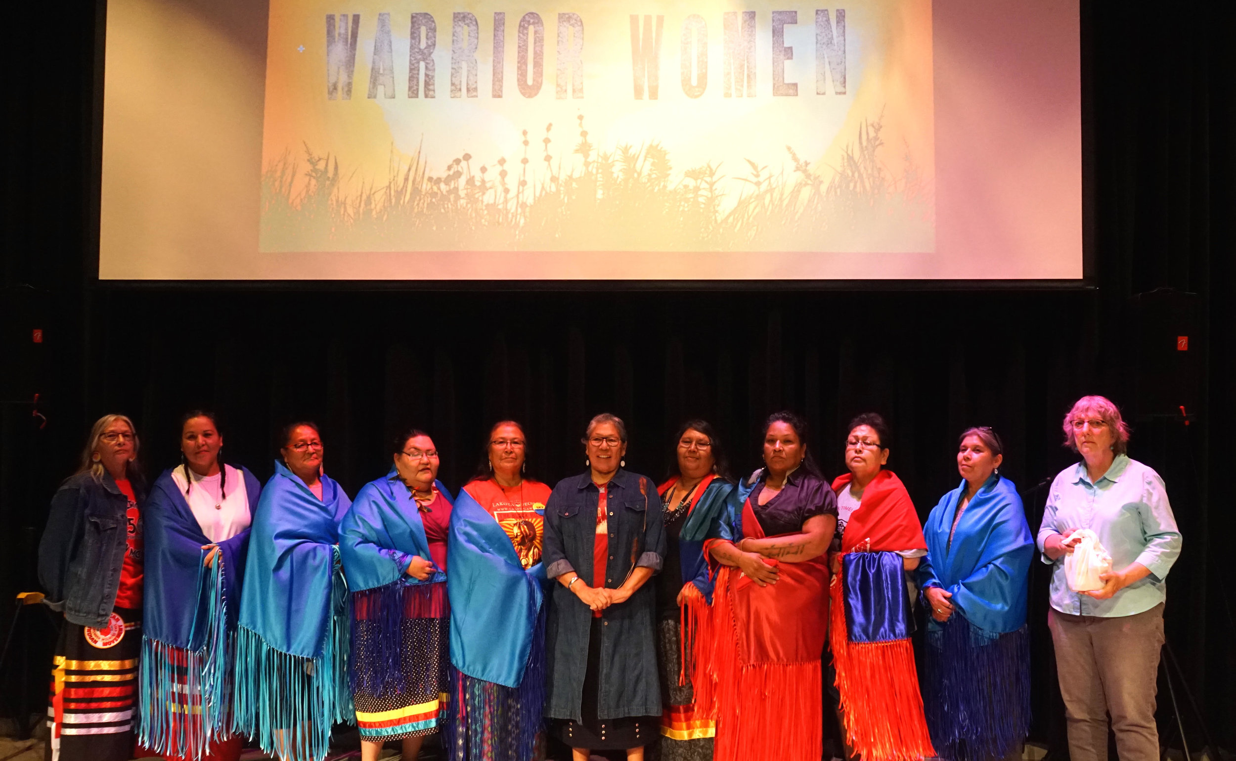 Alongside the Oceti Sakowin homeland screening, Madonna Thunderhawk & Marcella Gilbert held an honoring ceremony to recognize the activist women who have tirelessly fought for the betterment of their community