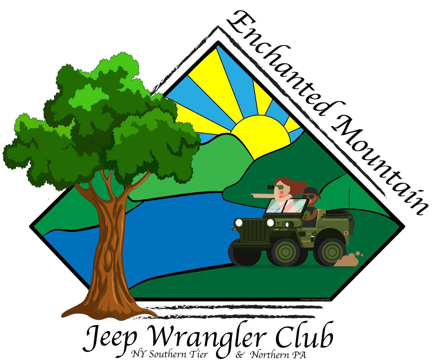 Logo design for Eastern Mountain Jeep Club website