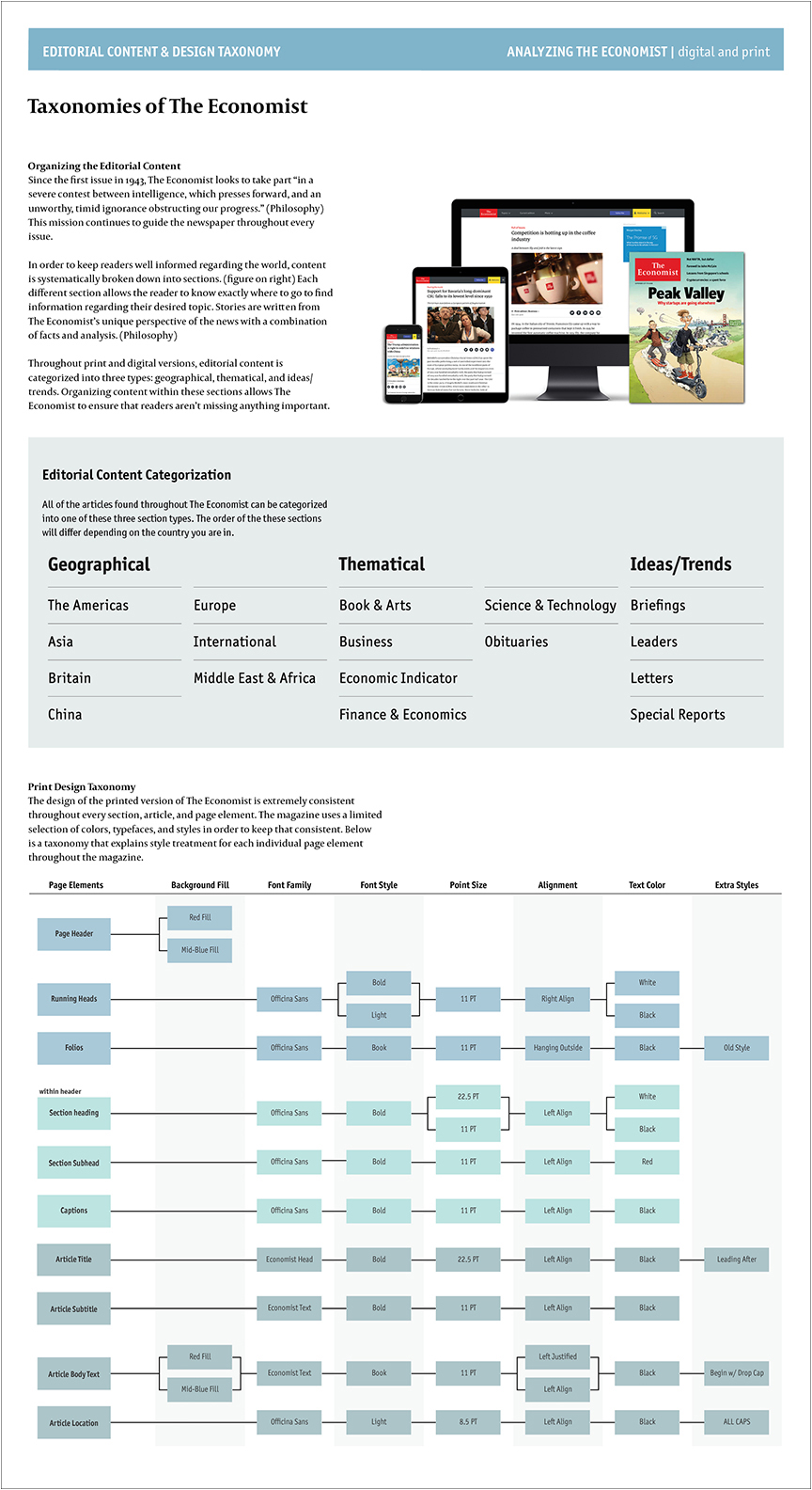 Broadsheet 2 - Editorial Content and Design Taxonomy