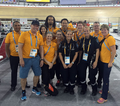 Medical Team in the Volodrome at the Toronto Pan Am Games.