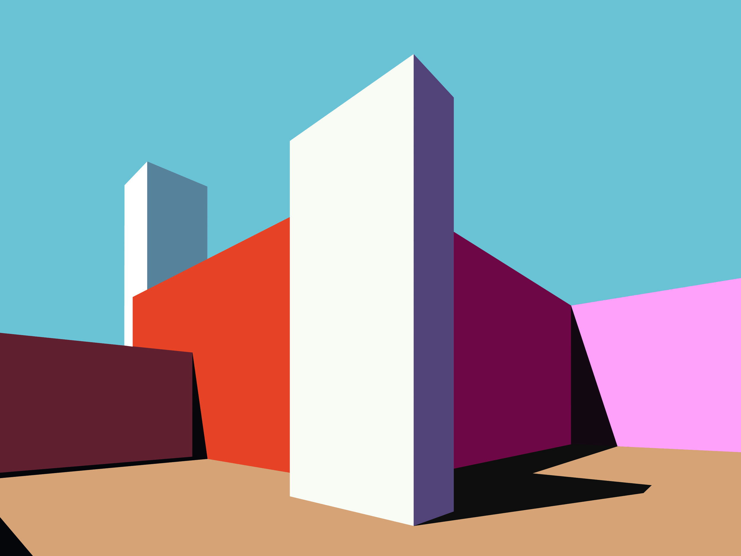Illustration of Luís Barragan's architecture
