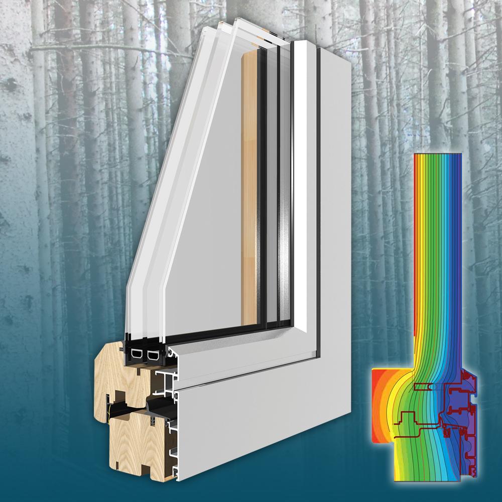 Coplanar - Műszaki paraméterekÖsszérték: Uw= 0,8 W(m²K)Beépítési mélység: 77,5 mmHőátbocsátás: Uf = 1.3 W/(m²K)3 gumitömítésÜvegezés: 3 rétegű, 44 – 49 mmÜveg hőátbocsátása: Ug = 0,5 W/(m²K)Hangszigetelés: 43 Rw (dB)