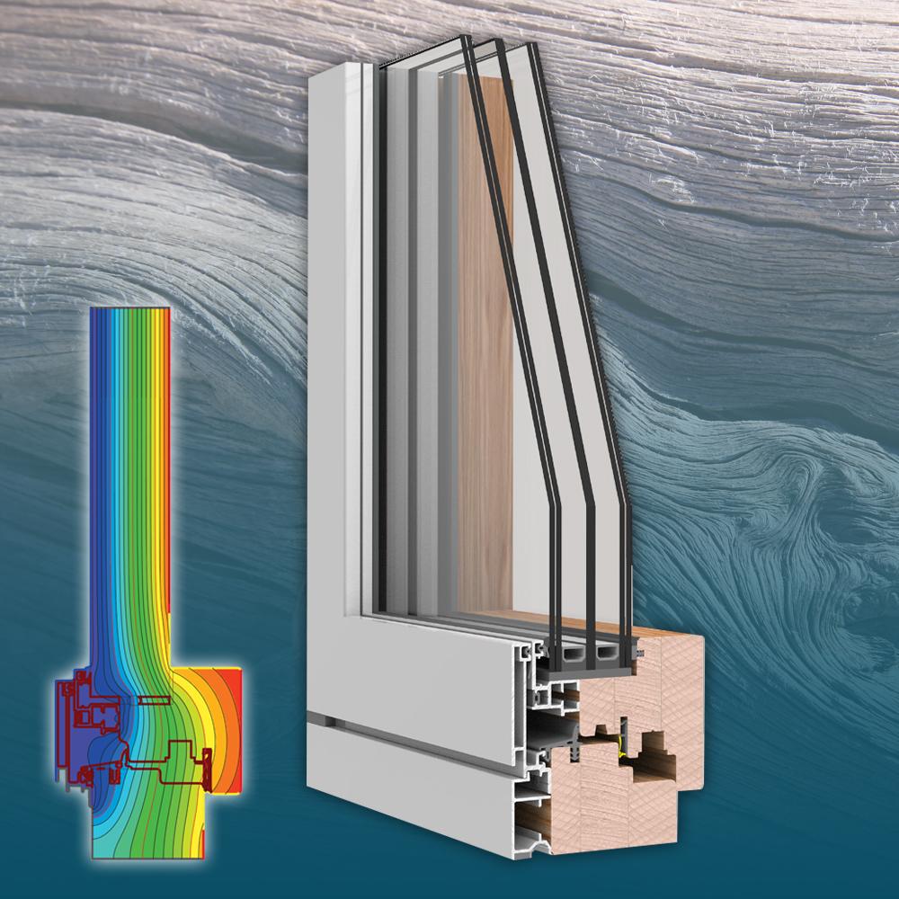 Slim - Műszaki paraméterekÖsszérték: Uw= 0,8 W(m²K)Beépítési mélység: 106 mmHőátbocsátás: Uf = 1,2 W/(m²K)3 gumitömítésÜvegezés: 3 rétegű, 44 mmÜveg hőátbocsátása: Ug = 0,5 W/(m²K)Hangszigetelés: 41 Rw (dB)