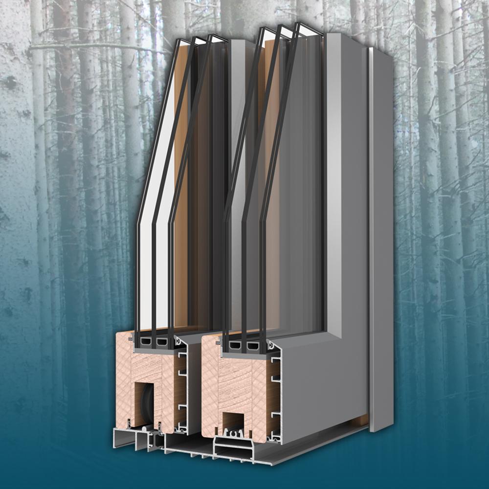 Zero - Emelő-toló rendszerMűszaki paraméterekÖsszérték: Uw= 0,8 W(m²K)Beépítési mélység: 197 mmHőátbocsátás: Uf = 1 - 1,7 W/(m²K)3 gumitömítésÜvegezés: 3 rétegű, 44 mmÜveg hőátbocsátása: Ug = 0,5 W/(m²K)Hangszigetelés: 41 Rw (dB)