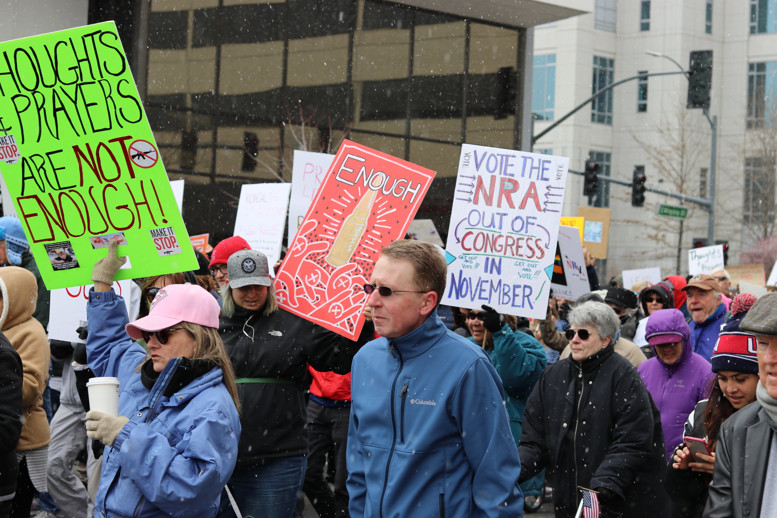 Inspired, but Angry - The #MarchForOurLives event in Reno was huge and inspiring, but I also felt angry thinking about all the lives needlessly lost because legislators can't make common sense gun reform happen.