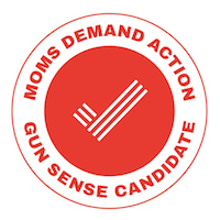 We're proud to have received the Moms Demand Action Gun Sense Candidate Distinction. #NeverAgain