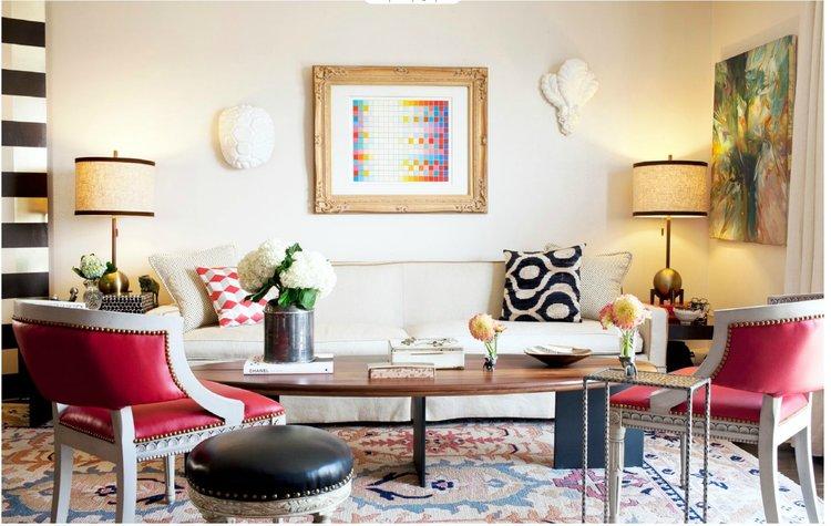 Eclectic Interior design services in Columbus, Ohio, living room design