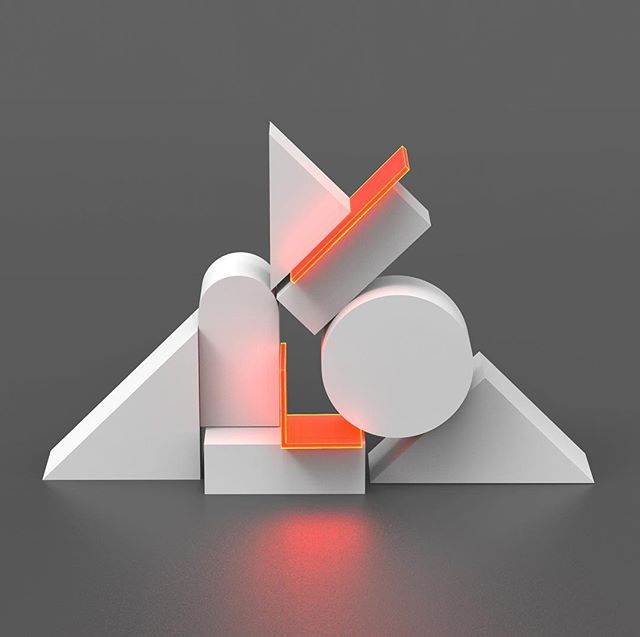 A work in progress. #3Dart #digitalart #geometricart #neon #minimal #renderingupastorm