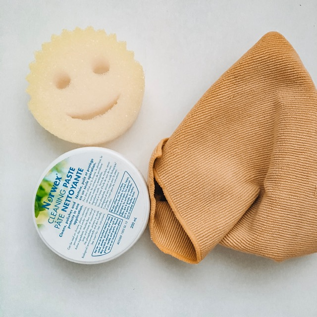 Cleaning Paste and Enviro Cloth from Norwex and the Scrub Daddy