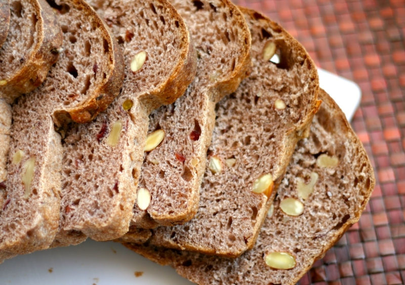 Order: Whole Wheat   The bran in whole wheat flour provides fiber and the germ provides protein and Vitamin E. Also: B-vitamins, magnesium, manganese, iron, phosphorous, potassium, and zinc.