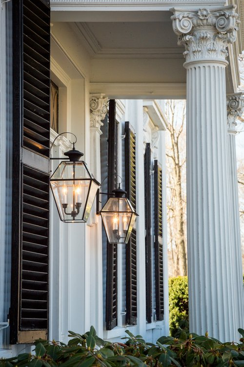 The School Street portico, main entrance. Photo: Mary Bowen, Asa Waters Mansion.