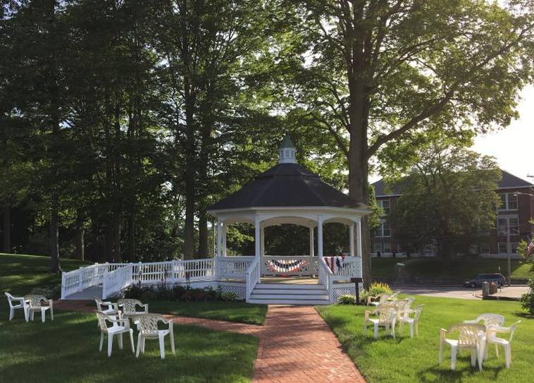 The West Lawn bandstand. Photo: John McElroy, Asa Waters Mansion.