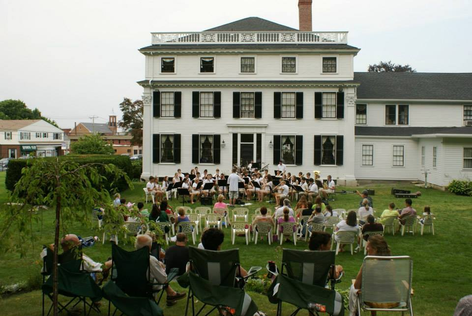 The West lawn during a summer concert. Photo: Catherine Elliott, Asa Waters Mansion.