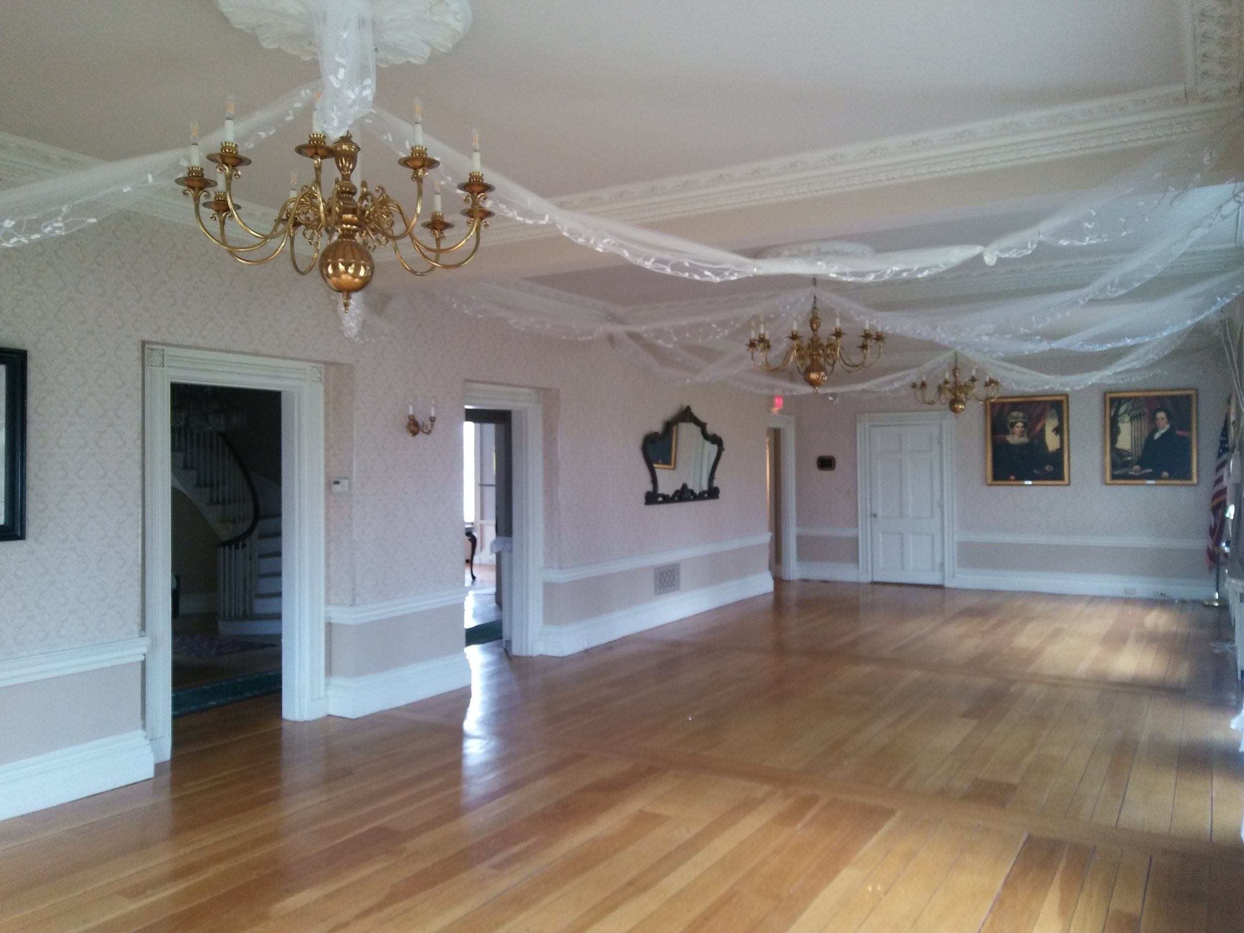 The Great Room with view of Main Hall. Photo: Mary Bowen, Asa Waters Mansion.