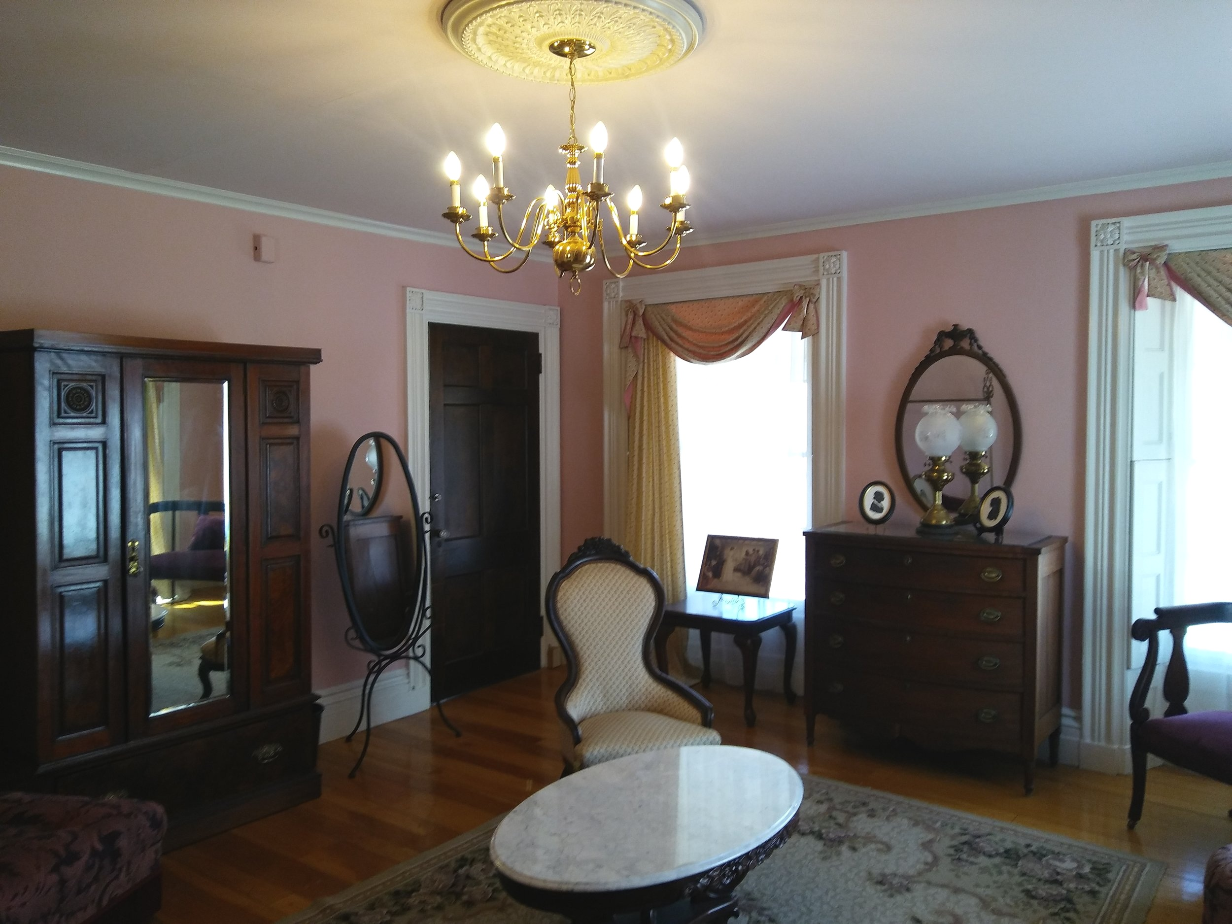 The Bride's Room: originally the bedroom of Susan Holman Waters, our inviting Bride's Room is the perfect place to prep for that special day! Photo: Mary Bowen, Asa Waters Mansion.