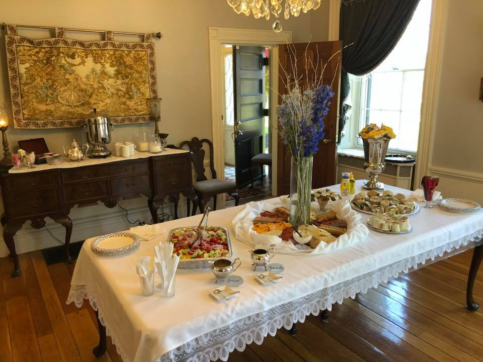 The formal Dining Room set for a luncheon buffet. Photo: Mary Bowen, Asa Waters Mansion.