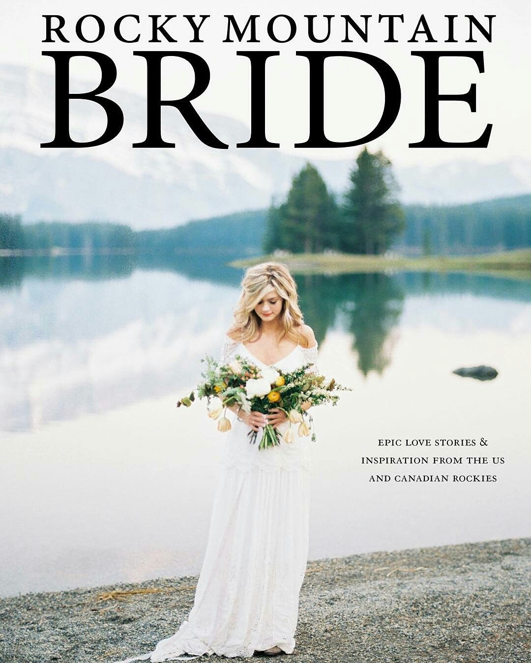 "The Cover Story - ""We wanted to create inspiration for an adventurous bride. A girl that spends her free time hiking in the mountains and camping by the bonfire. What if she were to stay true to her real self on her wedding day? What if she put on an easy-to-wear dress, comfy boots, and even throws on her favourite hat? Her bouquet is inspired by wildflowers, the ones that the couple was admiring on their first hike together. Cheerful flowers just like our bride herself. She is ready to promise to be forever adventurous with the one her heart loves.""- Julia Park"