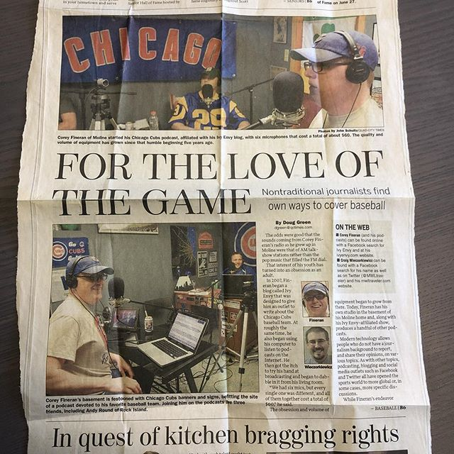 Thanks to listener Ryan for sending this clip from a 2012 @qctimes newspaper. This article is how he found us.
