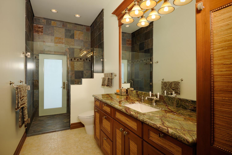 Modern Mediterranean Home Bathroom