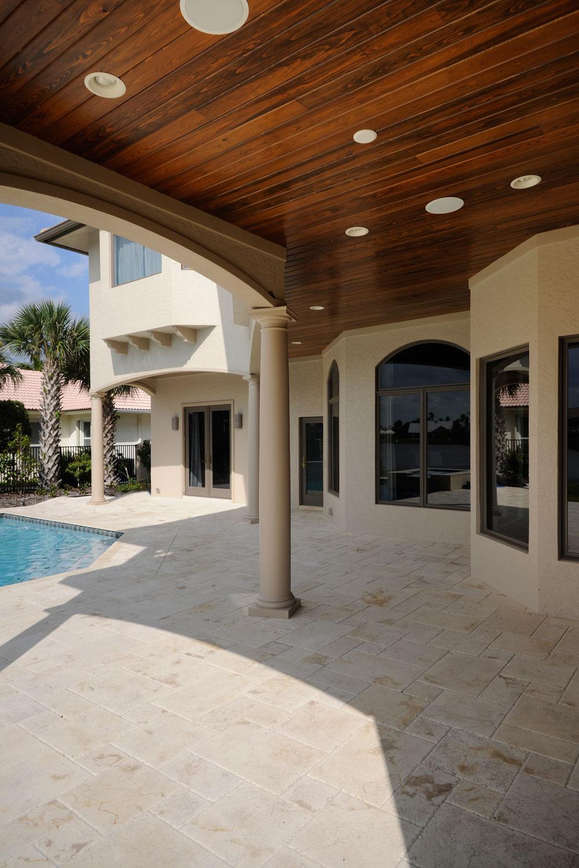 Modern Mediterranean Home Pool Deck