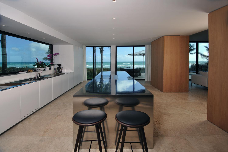 Modern International Kitchen, Ocean View