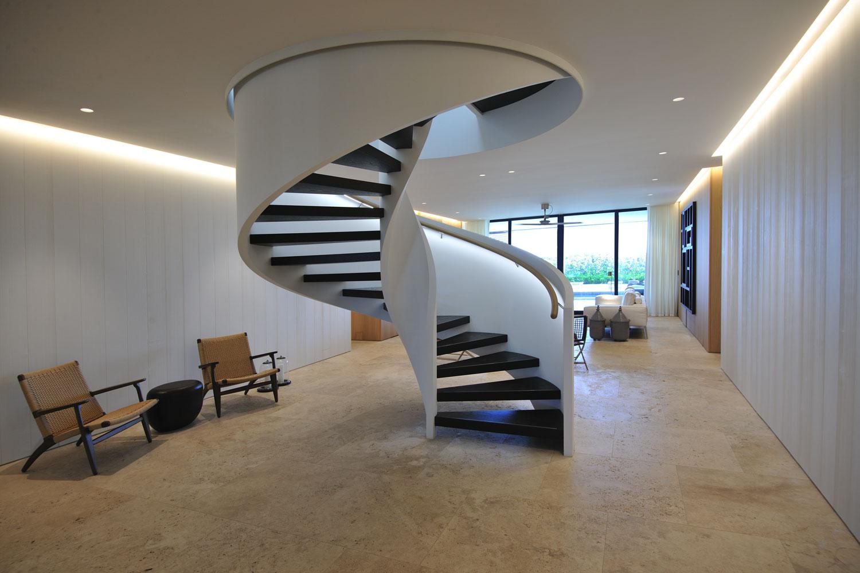 Modern International Steel Spiral Staircase