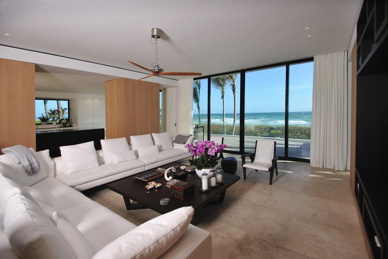 Modern International Upper Living Room, Ocean View