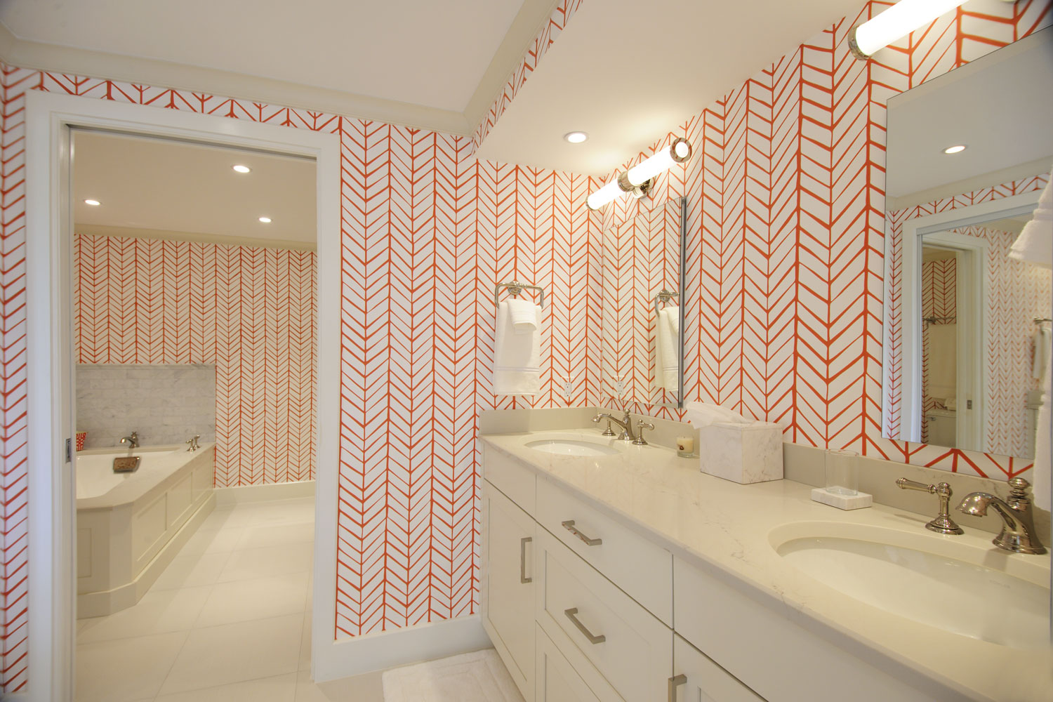 Transitional Traditional Home Guest Suite Bathroom