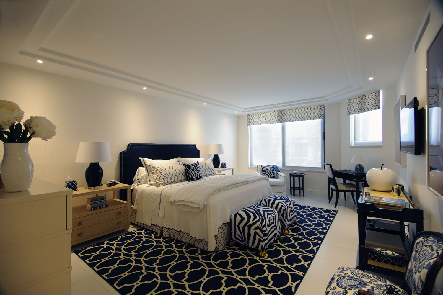 Transitional Traditional Home Master Bedroom