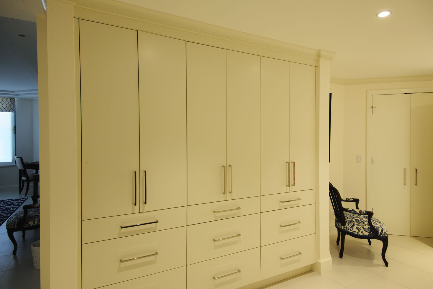 Transitional Traditional Home Master Closet