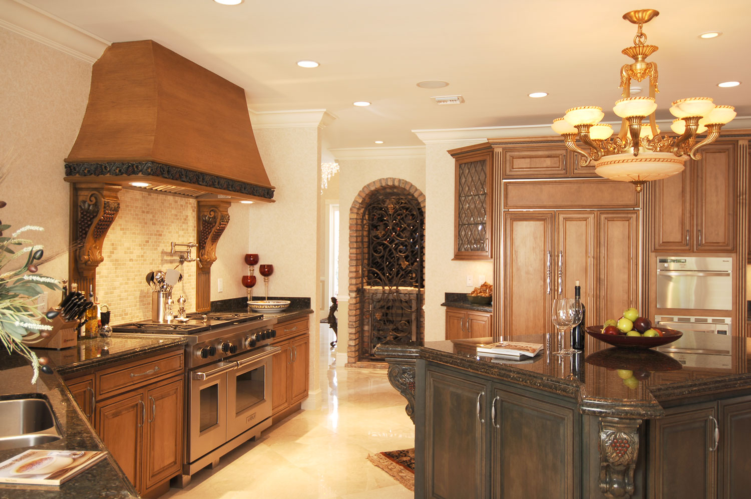 Plantation Home Kitchen and Wine Room