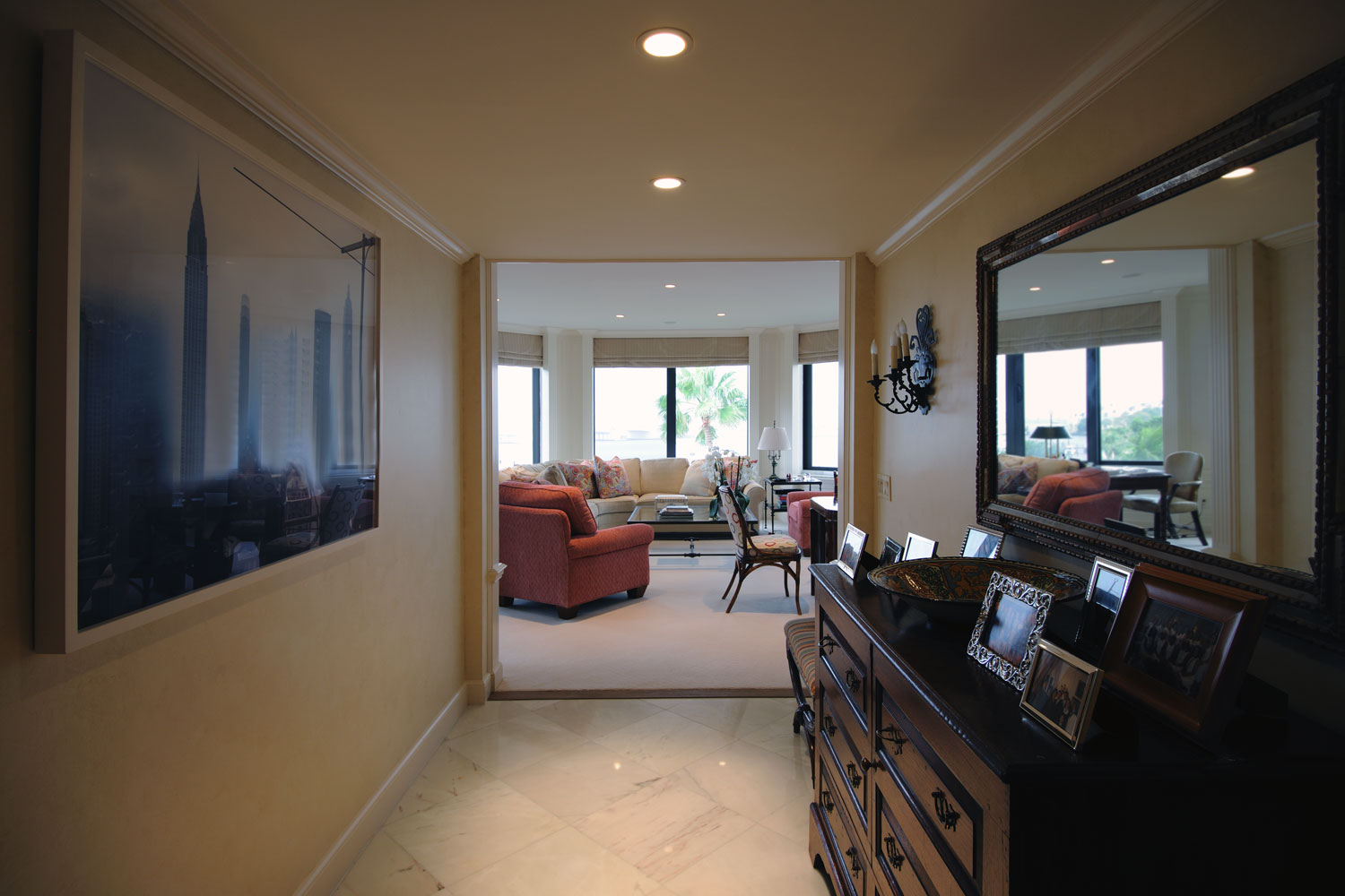 Transitional Home Foyer