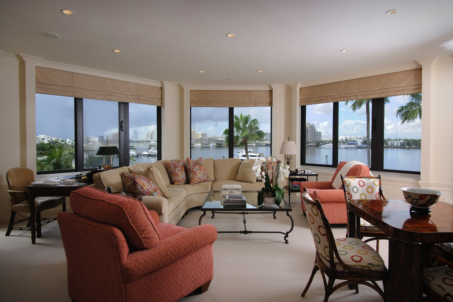 Transitional Home Living Room