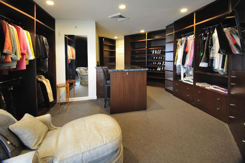 Transitional Home Master Closet