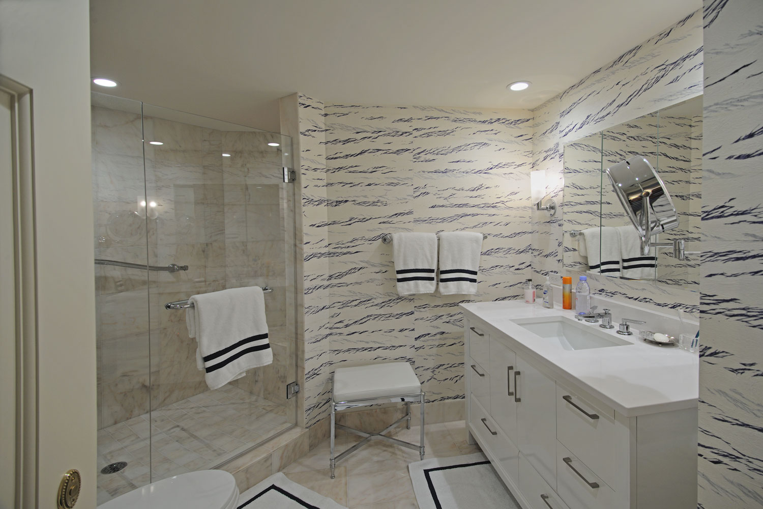 Transitional Home Guest Bathroom
