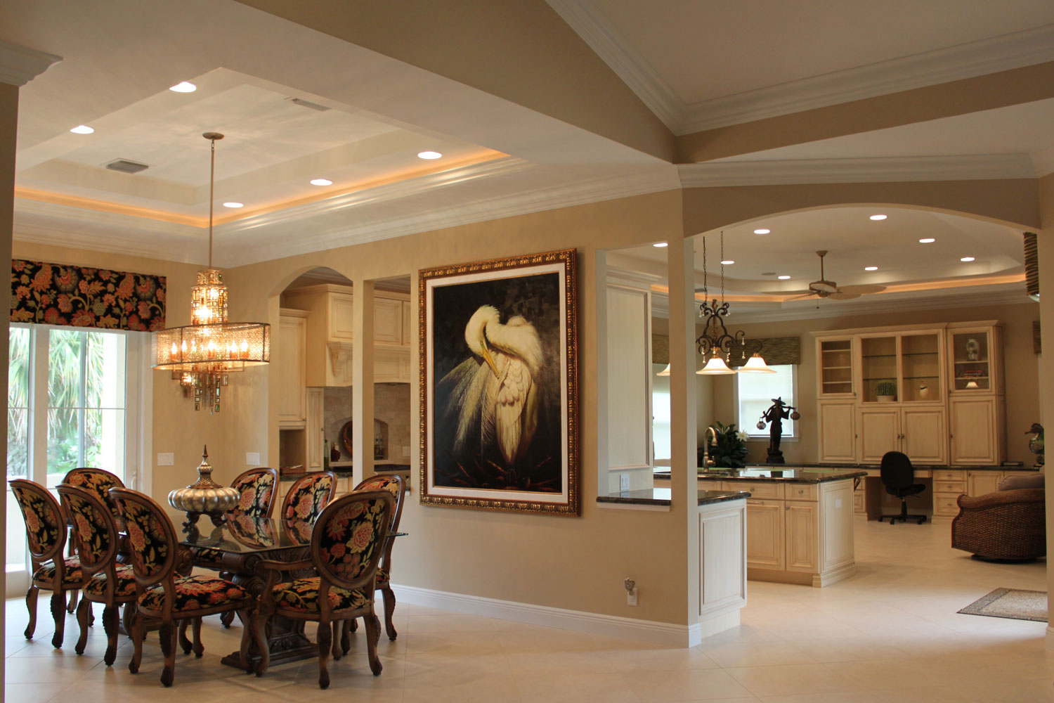 British West Indies Home Dining Room and Kitchen