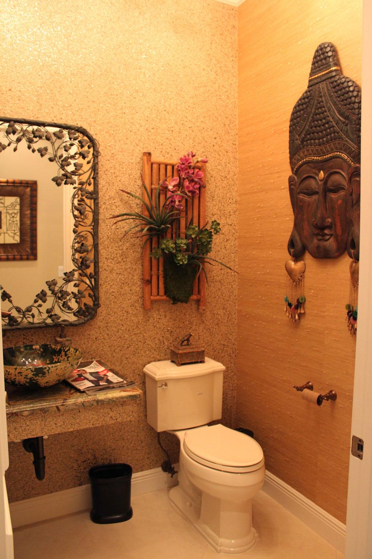 British West Indies Home Powder Room