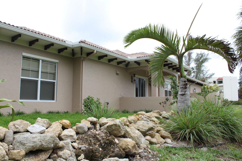 British West Indies Home Exterior Landscape
