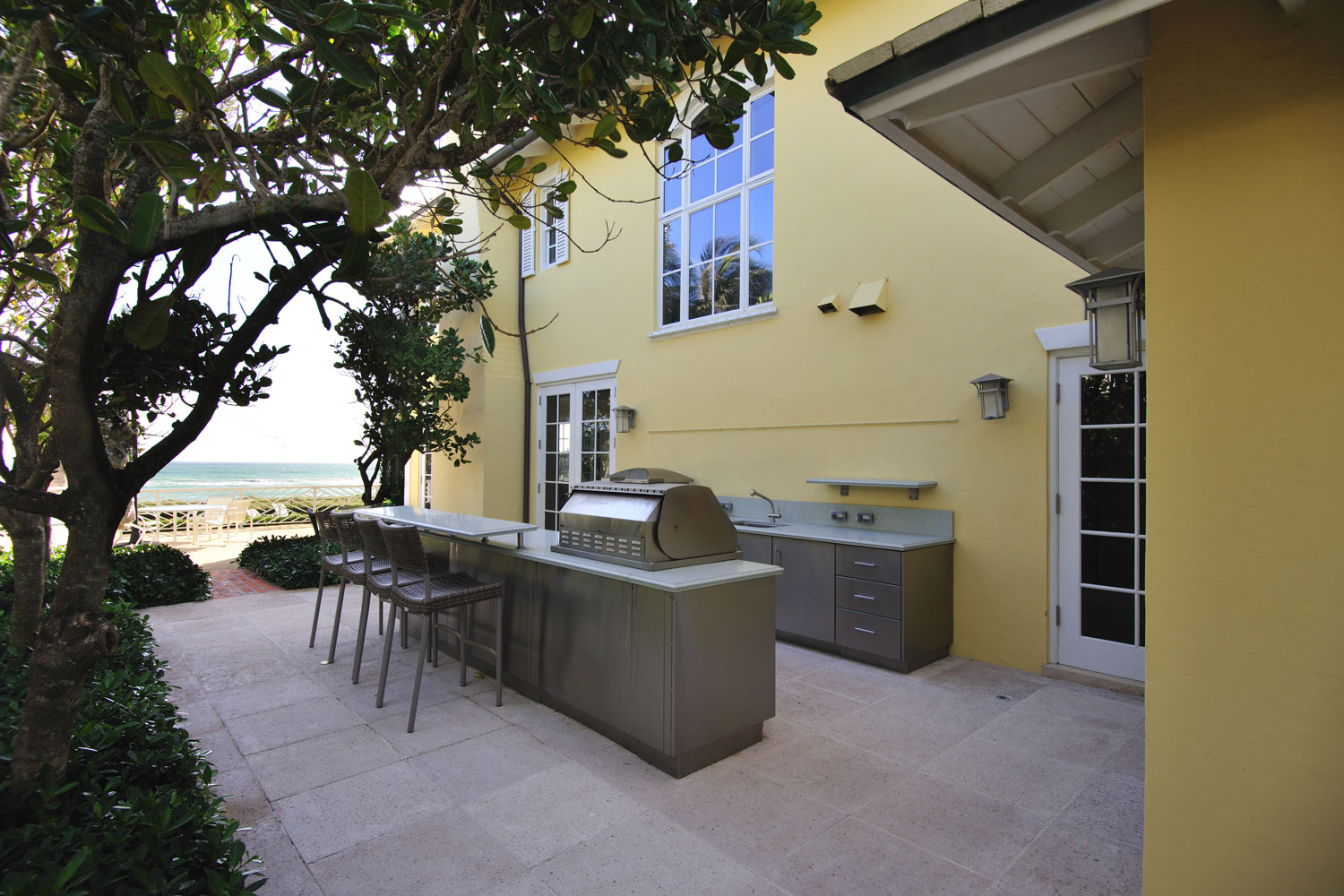 Caribbean Colonial Home Outdoor Kitchen