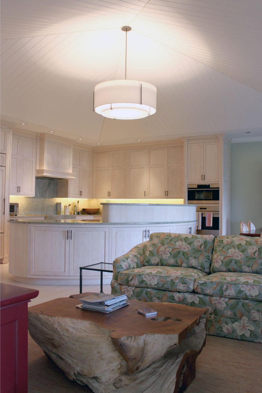 Classic Palm Beach Coastal Kitchen Sitting Area