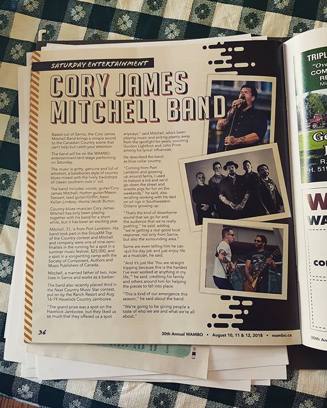I was visiting my folks the other day when my dear sweet ma pulled out a folder full of news clippings and internet print outs from the bands activity this summer. Ran across this nice spread they did for us in the WAMBO 30th Anniversary magazine... . . . #countrymusic #music #singersongwriter #originalmusic #guitar #southernrock #rocknroll #canadiancountrymusic #canadianmusic #countryboy #countrygirl #canada #sarnia #musician #austin #blues #bluesmusic #workingclass #nashville #rockmusic #band #redneck #honkytonk #bluecollar #countryandwestern #ontario #countryartist #countrysinger