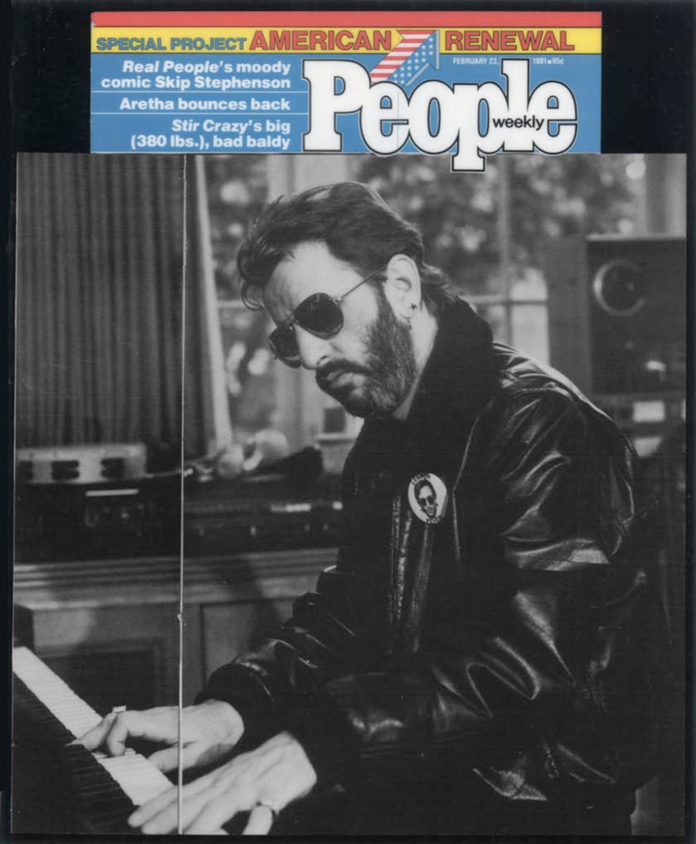 Ringo Starr, The Beatles - Robert Comstock Leather Jacket featured on People (1981)