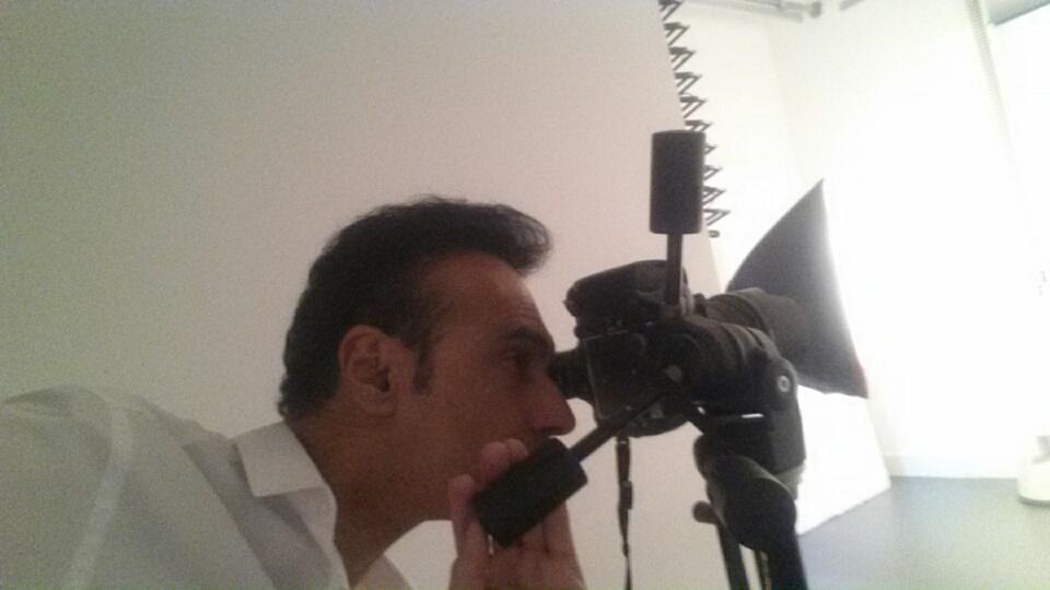 At Photo studio- filming