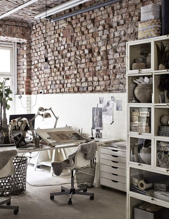 INSPIRED IMAGES: April -  this office | dreaming of an office even partially resembling this |
