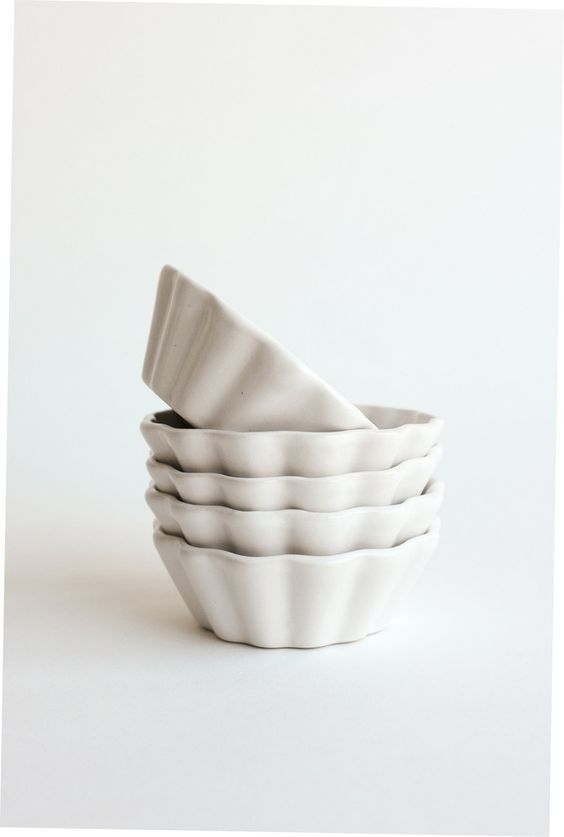 INSPIRED IMAGES: April - these ceramics | cupcake wrapper inspired little bowls, adorable |