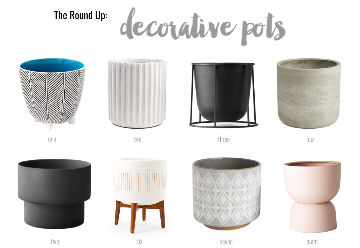 THE ROUND UP: Decorative Pots