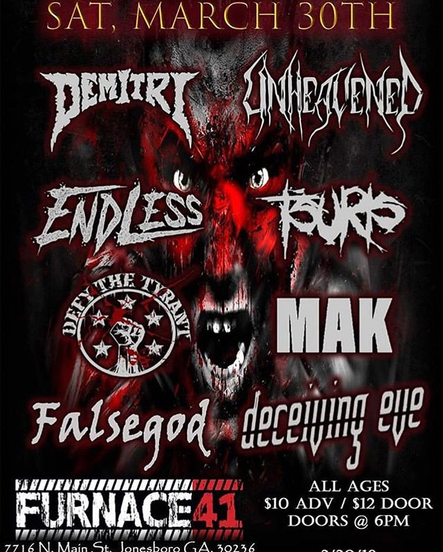 March 30th at @furnace41 🤘🤘this is gonna be one raging troll boner of a show so don't miss out!