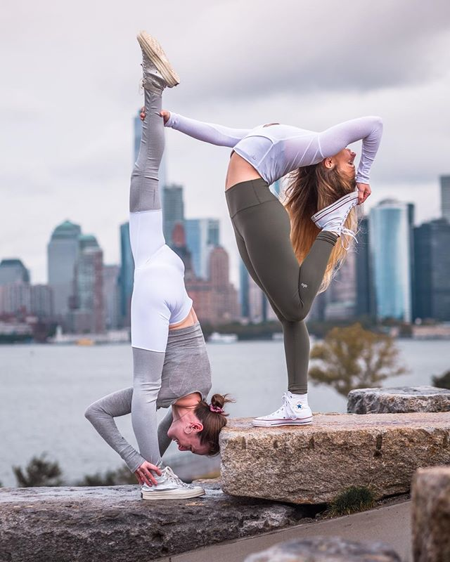 "It always amazes me how many amazing people I have gotten to meet through yoga. This is a pic from when @yogiaubrey @sfreneenyc and I went exploring around the city the other weekend. These two are some pretty incredible humans! I had previously known Aubrey through Instagram, but how cool is it that in a new city we got to hang for the day while she was in town?! Instagram can seem silly at times and at first I was skeptical about starting a ""yoga Instagram"", but it's more than just a medium to post pretty yoga pics I've learned. It's a lovely way so share thoughts, inspire, learn, and most importantly to me, it's how I've found community and built friendships. Every time I have been somewhere new, I've had a resource to connect with cool people. Moving to New York, I didn't know many people, but I have already gotten to connect with so many amazing humans via this platform. Instagram IS just a platform, but it ties common threads, and whatever your interests or passions are, it can make this big world we live in feel smaller. Pic by @sfreneenyc ❤️ . . . . . #backbend #standingsplit #yogalove #yoganyc #partneryoga #alonewyork #yogisofig #yogafam #yogisunited #yoginis #beagoddess #yogilove #yoginisofinstagram #practiceandalliscoming #onlyinnewyork #travel #community #aloyoga #yogalifestyle #yogajourney #nycyoga #yogaeverydamnday #converse"